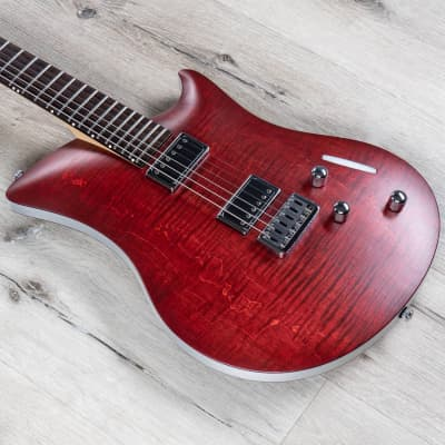 Relish Jane Guitar, Aluminum and Flame Maple Wood Body, Flamed Bordeaux for sale