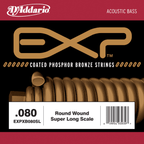 D'Addario XB080SL Nickel Wound Bass Guitar Single String Super Long Scale .080