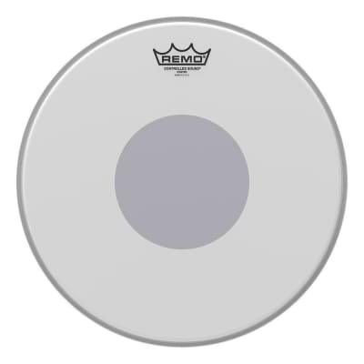 """REMO CS011410 Controlled Sound Coated Black Dot Drumhead - Bottom Black Dot, 14"""""""