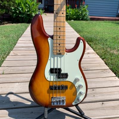 2016 Fender American Elite Precision Bass Tobacco Sunburst for sale