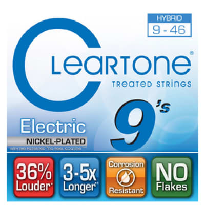 "Cleartone 9419-CLEARTONE .009-.046"" Hybrid Electric Strings"