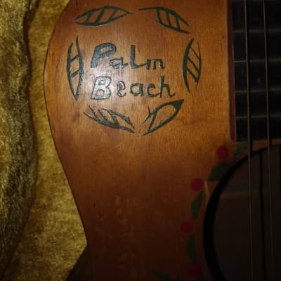 Supertone Palm Beach Parlor Guitar 1934?  brown for sale
