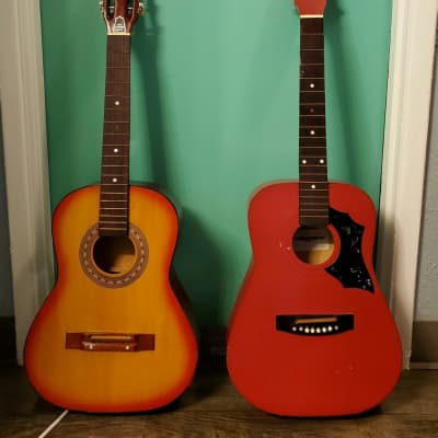 2 Vintage Acoustic Guitars~Made in Korea~Sekova Model 720 & 1 Unknown Brand c. 1980's *FREE SHIPPING* for sale