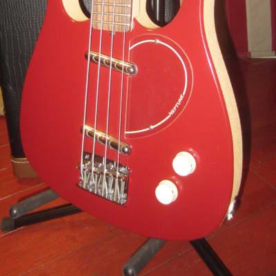 1990's Jerry Jones Neptune Long Horn Bass Red w/ Original Case for sale