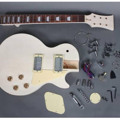 Unbranded Les Paul Electric Guitar DIY Kit Natural Unfinished