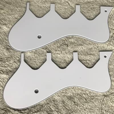2 Pcs For Riviera Custom P93 Hollow Body Electric Guitar Pickguard , 3 Ply White