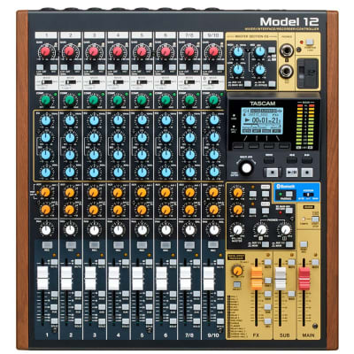 Tascam Model 12 Channel Hybrid Analog Mixer Digital Recorder Interface Controller