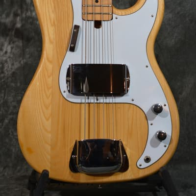 Memphis P Bass 4 string Precision Natural Vintage 70s-80s w Case & Fast Same Day Shipping for sale