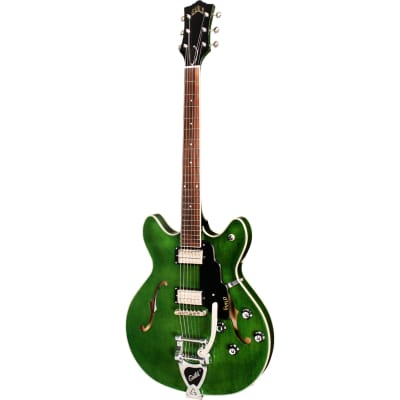 Guild Newark St. Collection Starfire I DC Emerald Green Semi-Acoustic Guitar with Tremolo for sale