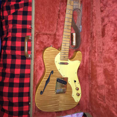 40th anniversary JW Black Fender  thinline Telecaster 1989 Natural for sale