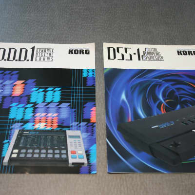 Korg DSS-1 Synthesizer and DDD1 Drum Machine Dealer Brochure Set 1986