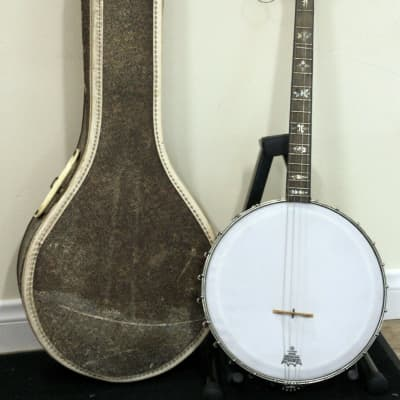Orpheum  Vintage No.1 Tenor Banjo Mother of Pearl Inlay w/ Case for sale