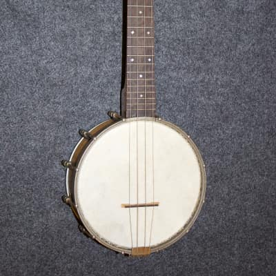 Vintage Maple Pot Banjo Uke (Slingerland?) with Elton Metal Resonator c. 1930 for sale