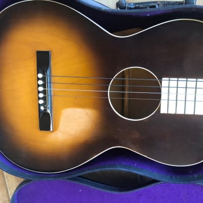 May Bell 1930's Slingerland Acoustic Guitar w/Original Case and Extras