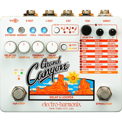 Electro Harmonix Grand Canyon Delay and Looper Effects Pedal for sale