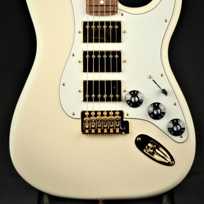 Fender Channel Exclusive Mahogany Black Top Stratocaster HHH - Olympic White for sale