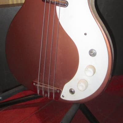 Vintage 1961 Danelectro Standard DC-1 Electric Bass Model 3412 Gold for sale