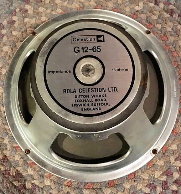 1981 Rola Celestion G12-65 12 Guitar Speaker 65 Watt 16