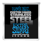Ernie Ball Extra Slinky Stainless Steel Wound Electric Guitar Strings 8-38 image