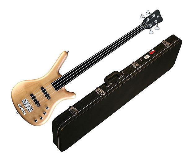 48bcab2a98 Warwick RB Corvette Basic Active 4-String Bass - Natural Satin - Fretless w/ Case