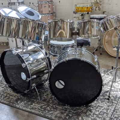 Ludwig Stainless Steel Octa-Plus 12pc Drum Set 1970's