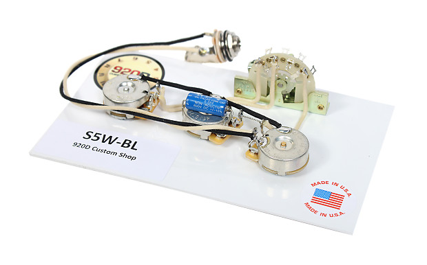 920d fender strat stratocaster wiring harness blender pot reverb. Black Bedroom Furniture Sets. Home Design Ideas