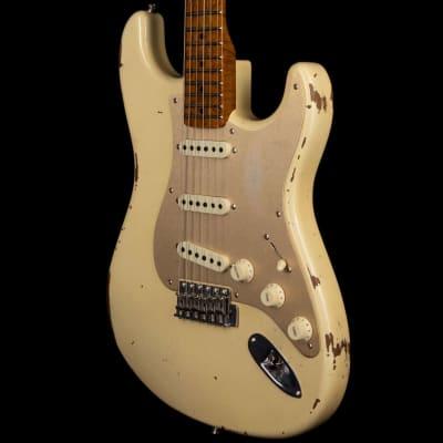 Fender Custom Shop 1956 Stratocaster Roasted 3A Birdseye Neck Relic Aged Vintage White
