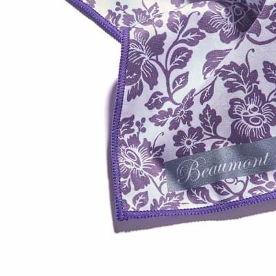 Small Microfibre Polishing Cloth - Damson Lace