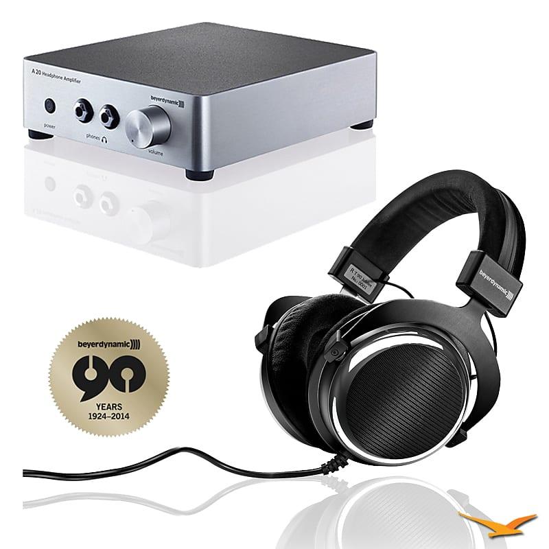 e801e777a8f BeyerDynamic T90 Chrome Exclusive Limited Edition Audiophile Headphones & A20  Amp Bundle