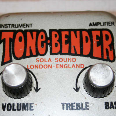Tone-Bender by Sola Sound, Early '70's, Silver, Germanium for sale