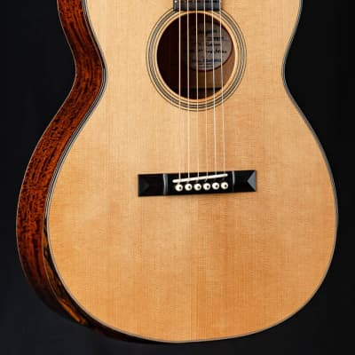 Bourgeois OMC Soloist Custom Aged Tone Adirondack Spruce and Figured Mahogany with Bevel NEW for sale