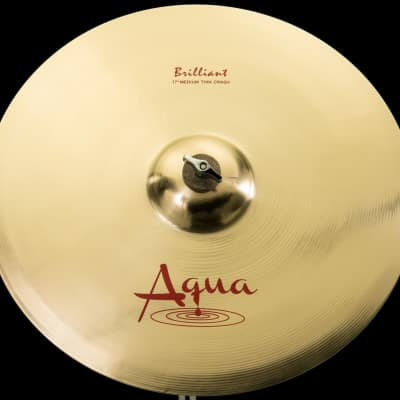 "Aqua 17"" Medium Thin Crash Brilliant"