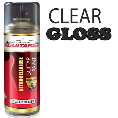 CLEAR GLOSS Nitrocellulose Guitar Paint / Lacquer Aerosol - 400ml