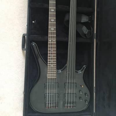 Galveston Double Neck Bass Translucent Black for sale