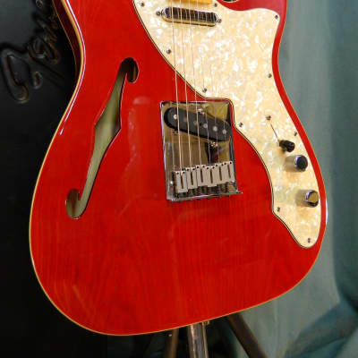 Fender '90s Tele Thinline 1998 Transparent Crimson for sale