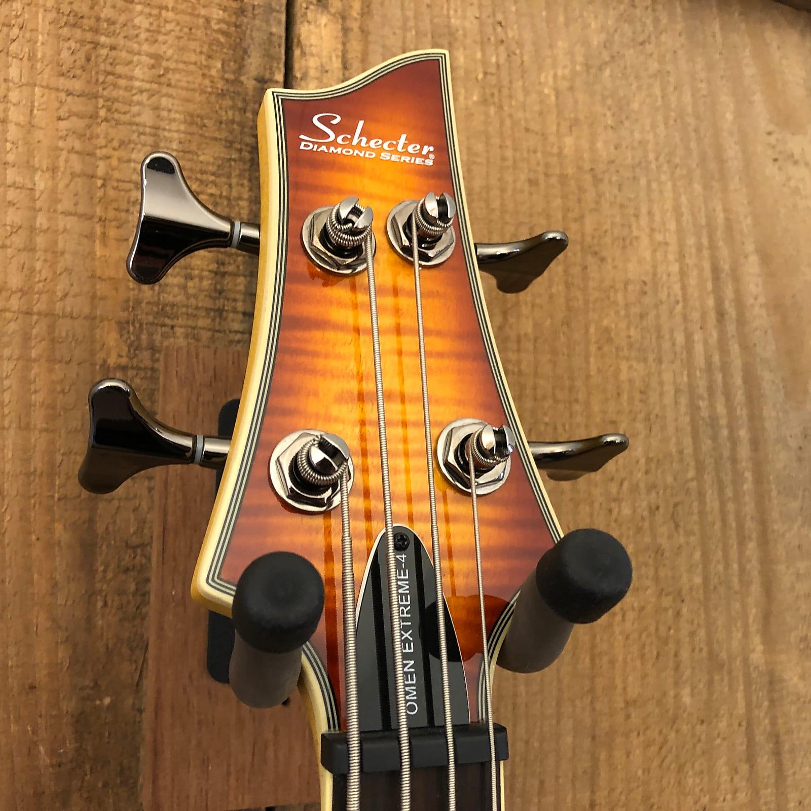 Schecter Omen Extreme-4 Active Bass Guitar Vintage Sunburst 2018