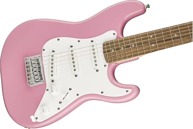 squier by fender mini stratocaster pink gear depot reverb. Black Bedroom Furniture Sets. Home Design Ideas