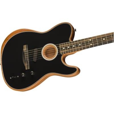 Fender American Acoustasonic Telecaster Acoustic-Electric Guitar - Black for sale