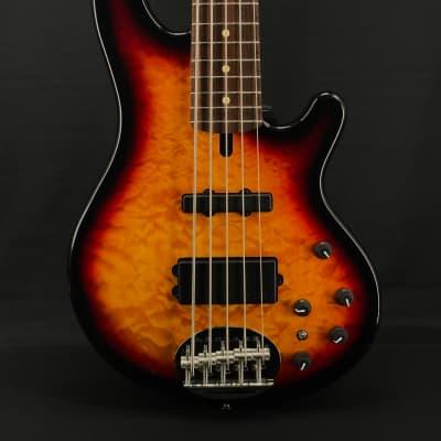 Lakland Skyline 55-02 Deluxe 5-String in Tobacco Sunburst with Laurel Fretboard