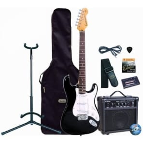 Encore E6 Electric Guitar Outfit, Black for sale