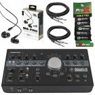 Mackie Big Knob Studio+ 4x3 Studio Monitor Controller + In-Ear Monitors Package image