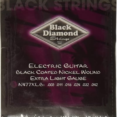 Black Diamond Guitar Strings Electric Extra Light 009-042 Black Steel