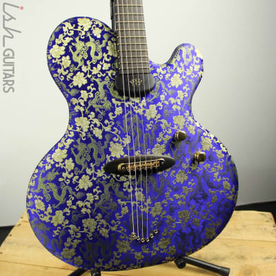 Ritter Princess Isabella Blue Dragon #6 of 25 Fabric Guitar for sale