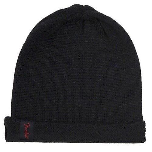 d55f9affd0a Genuine Fender Slouch Beanie Hat One Size Fits All Black with