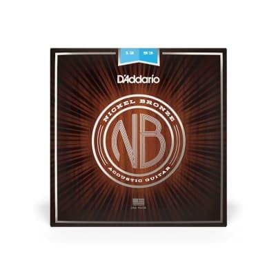 D'Addario NB1253 Light Gauge Nickel Bronze Strings 12-53