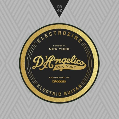 D'Angelico Electrozinc Strings - Rock 9-42