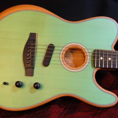 NEW! Fender American Acoustasonic Telecaster Surf Green Finish - Deluxe Gig Bag Authorized Dealer