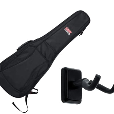 Gator GB-4G-ELECTRIC Electric Guitar Gig Bag + Frameworks Wall Hanger (Black)