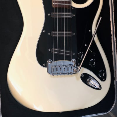 G&L USA Legacy Special White Gloss W/Blade Pickups & Case for sale