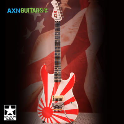 AXN™ Rising Sun Blue Flame Maple Neck : AVAILABLE : for sale